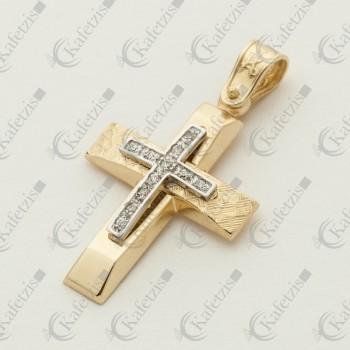 Σταυρός Γυναικείος με πέτρες ζιργκόν