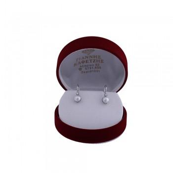 Σκουλαρίκια Κ14 με μαργαριτάρια