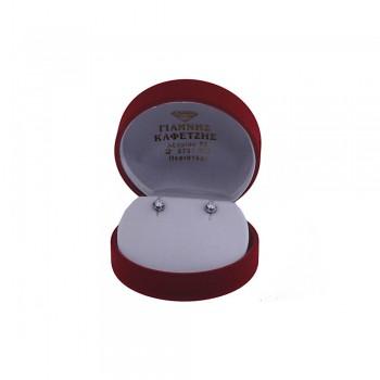 Σκουλαρίκια Κ14 με μονόπετρο ζιργκόν