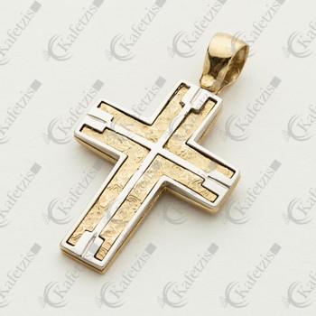 Ανδρικός σταυρός δίχρωμος
